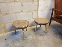 2 x Vintage Morrocan Brass Side Tables