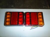 PAIR OF LED TRAILER REAR LIGHTS NEW IN BOX
