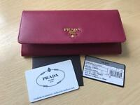 PRADA women long leather wallet 100% Authentic