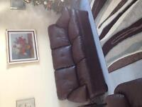 1 year old leather couch for sale