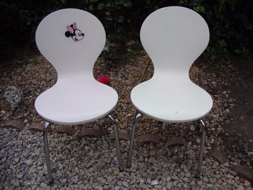 Pair Of Children's Retro Chairs.