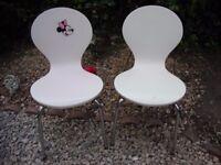 Pair Of Children's Retro Chairs.