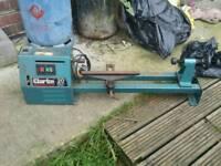 "Clarke 20"" woodworking lathe"