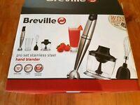 Breville hand blender set. New.