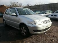 2001 POLO 1.4 petrol ,,, 5 DOORS,,, EXCELLENT CONDITION DRIVES SUPERB