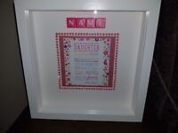 Large 3d box frame, personalised to suit
