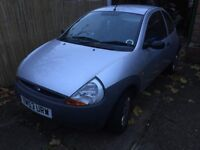 Ford Ka Silver 3 door hatchback 1.2 CC 53 Plate 2003 repair needed Low mileage