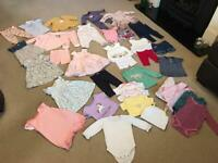 Baby girls clothes clothing bundle 6-9 months 45 items inc. Next John Lewis M&S inc. swimsuits jeans