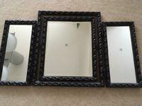 Metal painted dressing table mirror