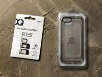 iPhone 8 Clear Case and Sim Card Adaptor Set