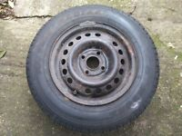 Spare Wheel Vauxhall 13 inch 165TR1, Spare Rim & tyre mk1 mk2 cavalier wheel