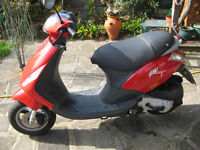 super clean piaggio zip 49cc auto 4 stroke scooter MOT 23/09/2017