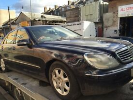 02 MERCEDES S320 FOR BREAKING FOR ANY PARTS CALL ON