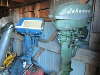 Vintage Evinrude and Johnson Sea Horse outboards