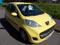 PEUGEOT 107 1.0 URBAN 5d 68 BHP (yellow) 2010