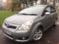 """7 SEATER!! 58 TOYOTA COROLLA VERSO DIESEL, D4-D, TOP SPEC """"SR"""", FSH , 2 OWNER, TIMING CHAIN, 53 MPG"""