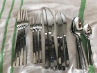 URGENT - set of Modern Stainless Steel Cutlery from John Lewish