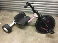 Specialized white and pink kids trike.