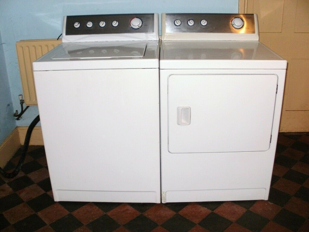 Admiral Maytag Usa Large Top Loading Washing Machine And Matching Dryer Excellent Condition
