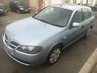 2006 Nissan Almera 1.5l, 5 Door Hatchback, Blue, NEW MOT, Full Service History, Drives very good