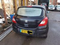 Vauxhall Corsa D - 5 Door Model Rear Bumper in Black 2007