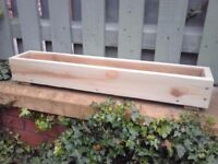 ****NEW WOODEN TREATED GARDEN PLANTERS, window box,herb ,bulb,flower,pot,boxes CUSTOM SIZES! COLOURS