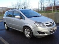 2010 VAUXHALL ZAFIRA 7 SEATER AUTOMATIC DIESEL,LOW MILES,FULL SERVICE, 2 KEYS, 3 MONTHS WARRANTY
