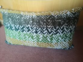 Cushion Plump Green and Yellow As New. CAN POST