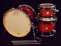 DW / Drum Workshop Tobacco Burst 22/12/16 3pc Shell Pack VGC (Trade Mini Pro / Frequent Flyer)