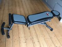 FOLDABLE EXERCISE BENCH: Body Sculpture - Aero Gym (with resistance straps on pulleys)