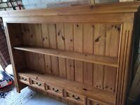 Bargain Quality Pine Dresser Display Unit 5ft wide. Would sit on a 5ft dresser base or wall mount.