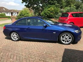 BMW 3 Series Convertible, M Sport, Blue, FSH, New 17 inch Wolfrace Alloys