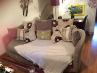 Free sofa beige three seater really comfy