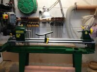 wood turning power lathe Record