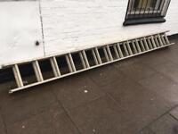 14 steps each extendible aluminium ladder