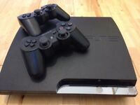PlayStation 3 with controllers games and accessories