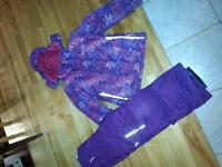 girls snowsuit size8