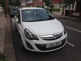 White Vauxhall Corsa 1.2 Energy 3dr, LOW MILEAGE: 5,762 miles, 1 owner & in great condition!