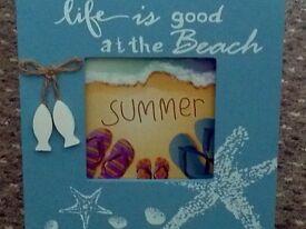 picture frame beach theme job lot x 12