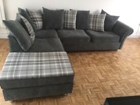 Grey L shape settee