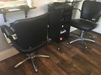 Hairdressing chairs and back wash