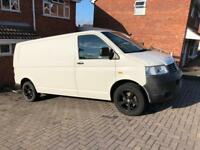 VW Transporter T5 LWB Van T30 85ps Rare Tailgate Air Con Great Condition Alloys