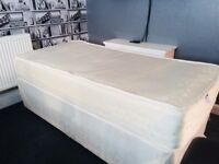 Single memory foam bed with pocket sprung base