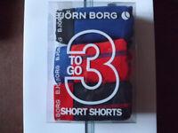 Bjorn Borg Blue Black, Red Blue, Black Red, 3 Boxer Brief Cotton Trunks XL