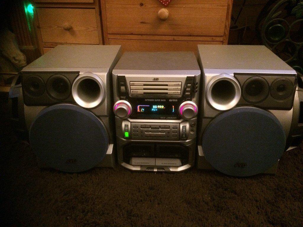 JVC Compact Componant System MX-J 950R 3 cd
