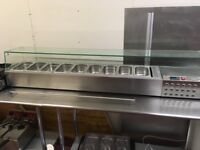 Stainless steel 9 pot electric counter top salad bar excellent condition