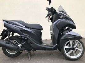 YAMAHA TRICITY 125 -AS NEW -2016 MUST BE SEEN -FINANCE AVAILABLE LOW MILAGE £2750 AT KICKSTART