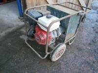 Generator 13hp Honda petrol engine with 110v and 240v plus 200amp welding outlets - working order
