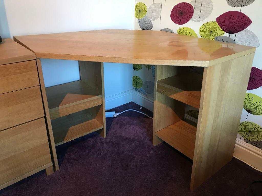John Lewis Corner Desk Oak Style