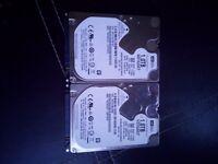 2x 1TB hard disk drives.
